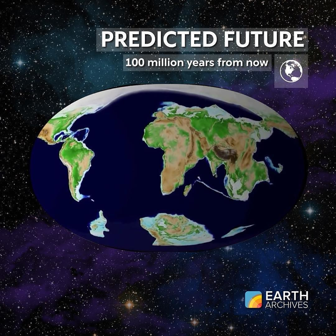 Still following the Pangea Ultima theory 100 million years from