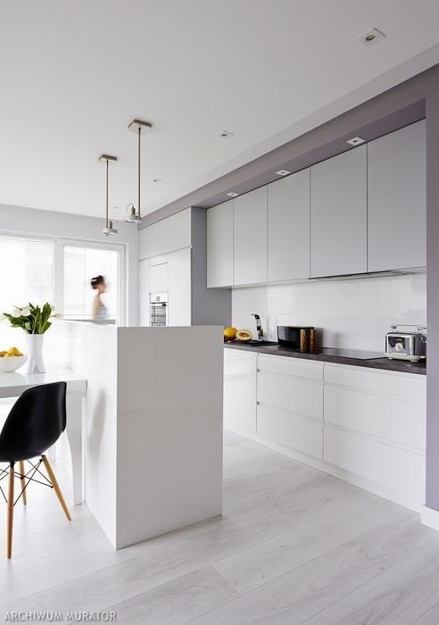 Szara Kuchnia Zdjecia 7 Zdjec W Galerii White Modern Kitchen Kitchen Design Modern Kitchen