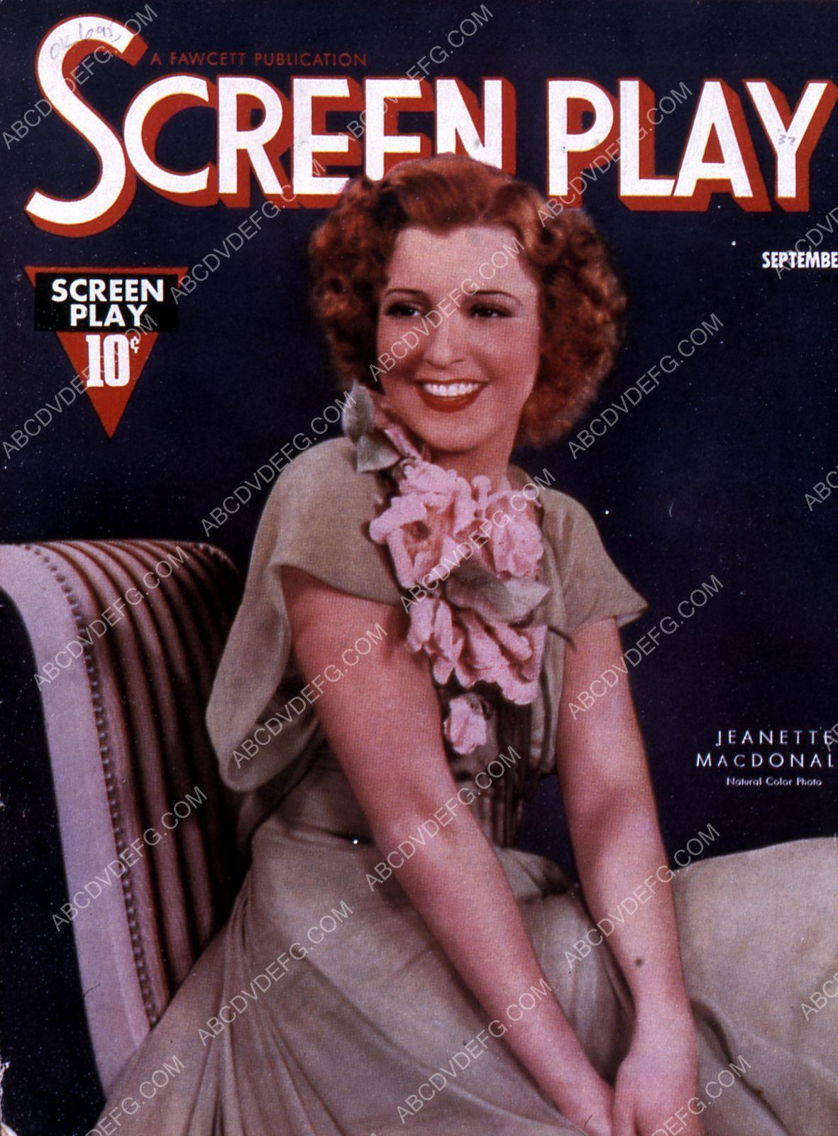 Jeanette MacDonald Screen Play magazine cover 35m-7752