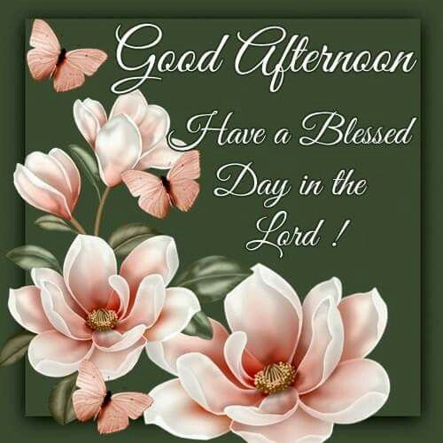 Good Afternoon My Friend May The Lord Watch Over You A Friend