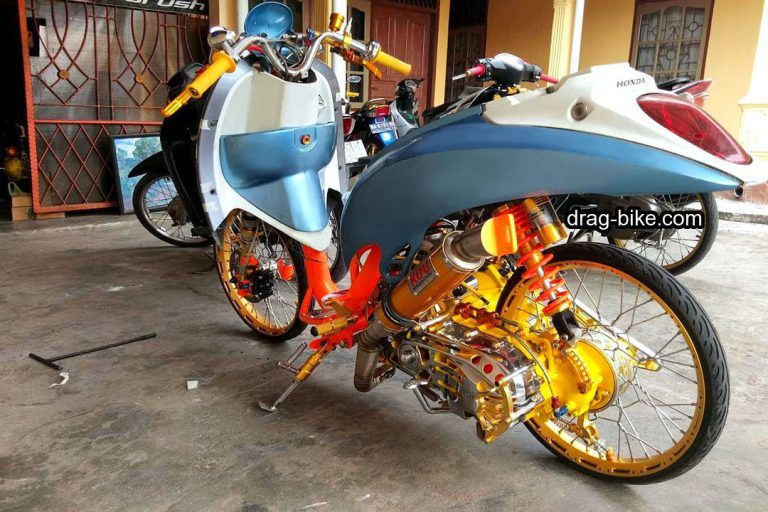 Modifikasi Motor Scoopy Pelek 17 Jari Jari Thailook Drag Bike Bike