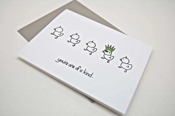 Funny Card  You're One of a Kind. Boyfriend Card. by CheekyKumquat, $4.00