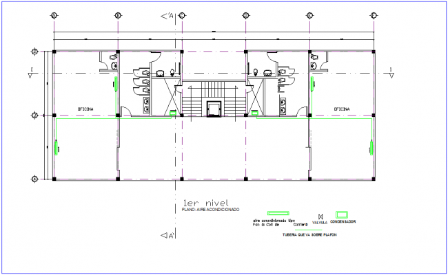 First floor plan of air conditioning system for office