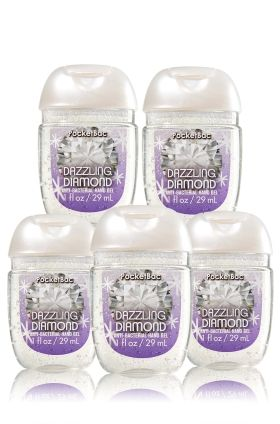 Dazzling Diamond 5 Pack Pocketbac Sanitizers Bath Body Works