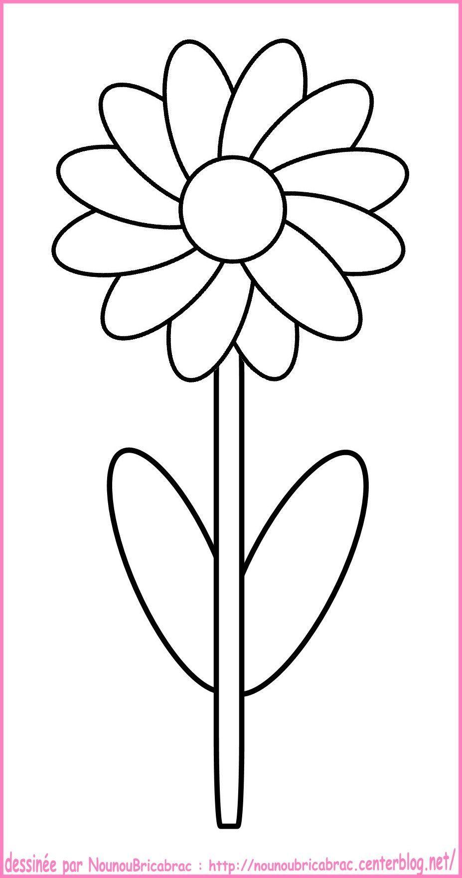 Fleur A Colorier Coloring Pages Coloriage Printemps