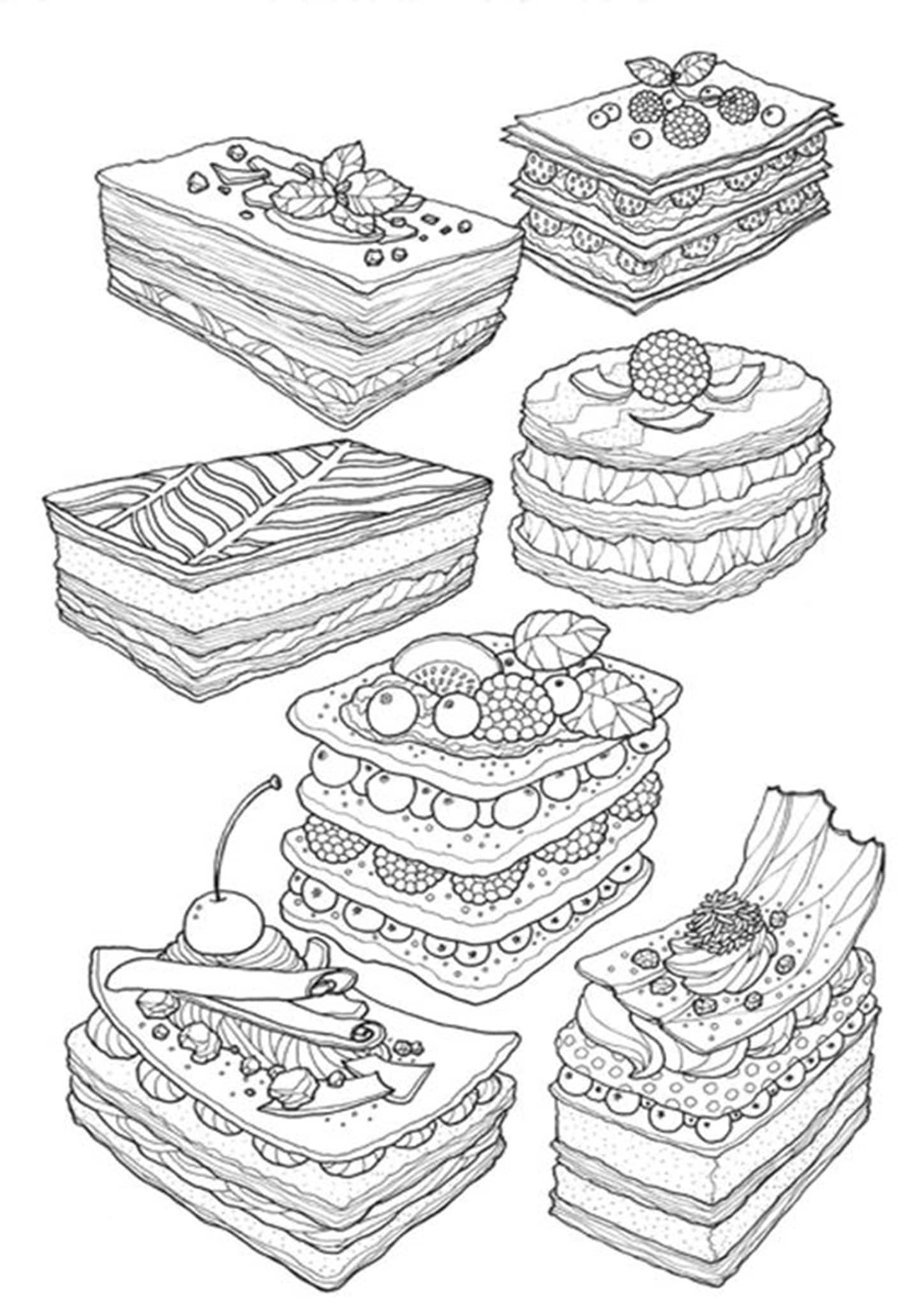 Free Easy To Print Cake Coloring Pages Coloring Pages Food Coloring Pages Coloring Books