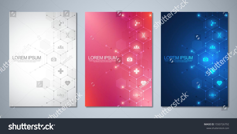 Vorlagenbroschure Oder Deckblatt Seitenlayout Flyer Design