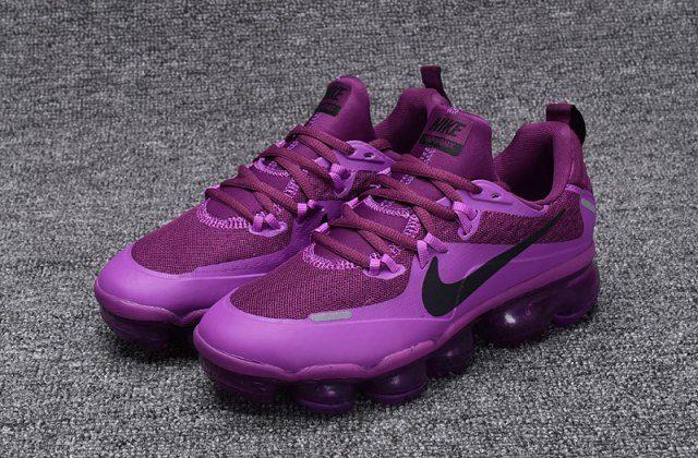 a2a6062a3a Zero Defect NIKE AIR VAPORMAX FLYKNIT Black Purple women's Running Shoes  709384 010 - NikeLine.