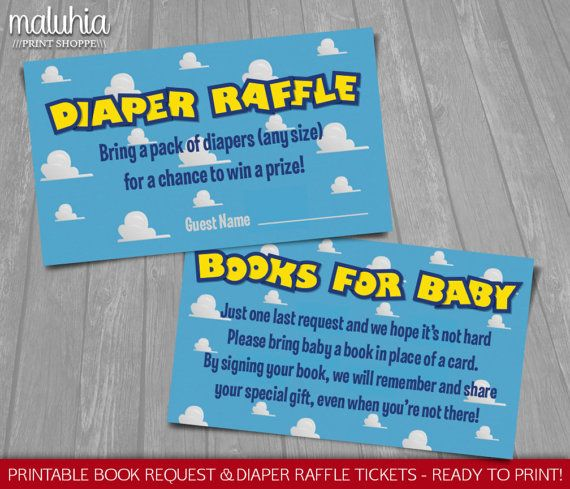 Toy Story Baby Shower Invitation Inserts Instant Download Disney
