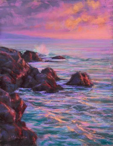Hawaii 11x14 Pastel Original Art Painting By Joe Mancuso Dailypainters Com Oil Pastel Art Landscape Paintings Seascape Paintings