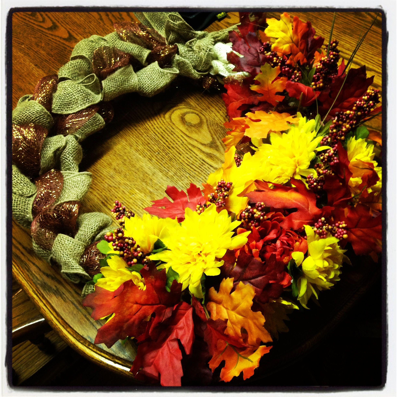 Fall burlap wreath :)