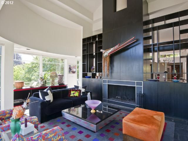 I love the cabinetry around the fireplace, front and...