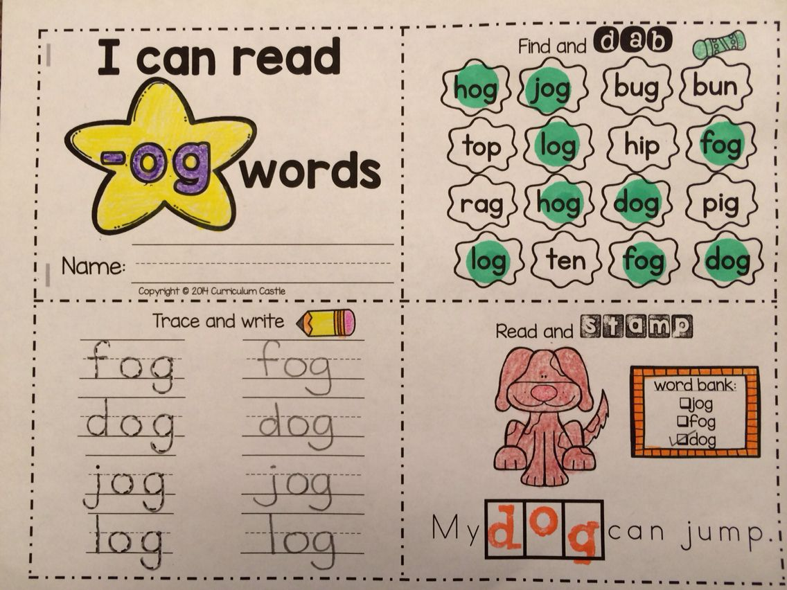 Cvc Word Families Activity Mini Books Distance Learning