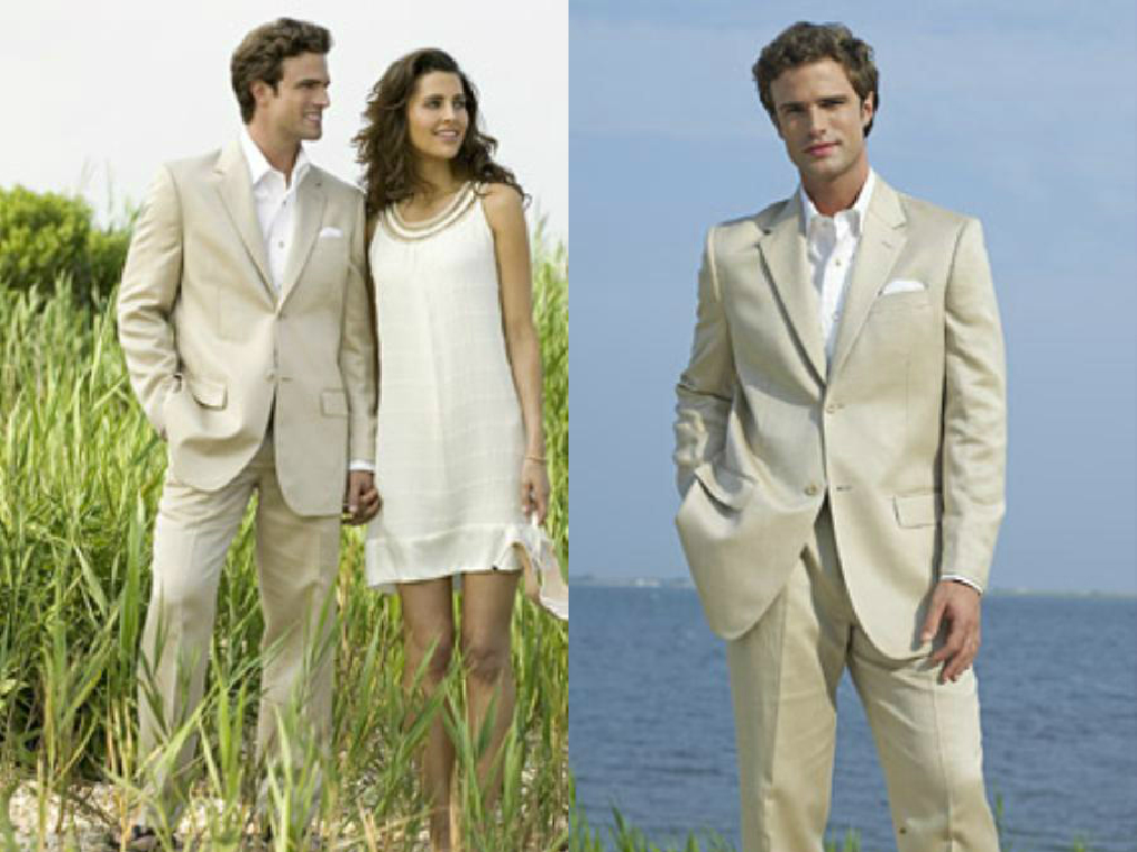 SKU * Eric_DP Ligero Ligero Tan caqui (Sand) traje de algodón y ...