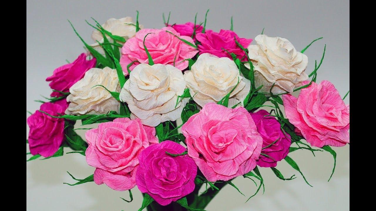 Paper Rose Flower Making Easy Papercraft Pinterest Diy Room