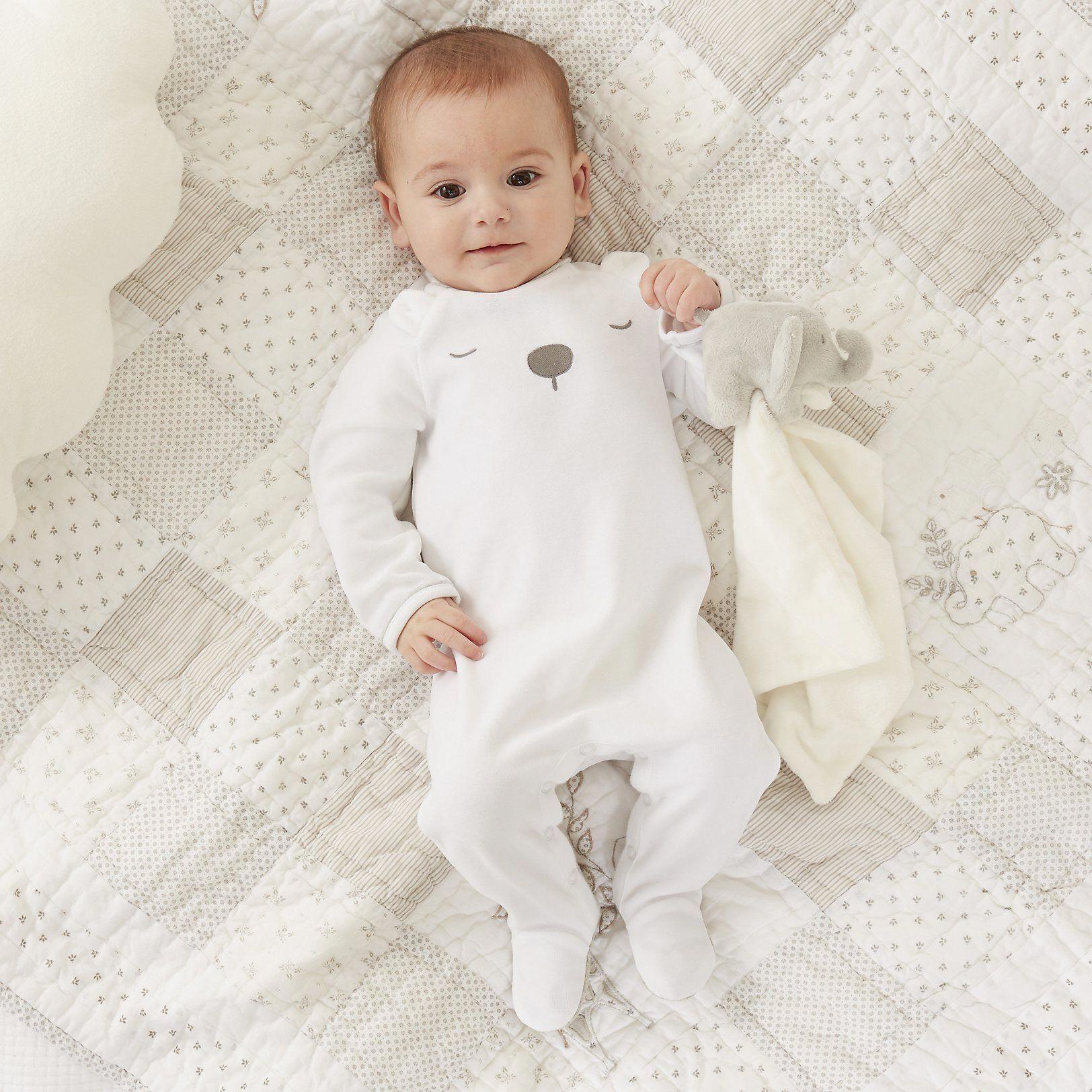 Velour Bear Sleepsuit  Newborn  Children & Baby  The White