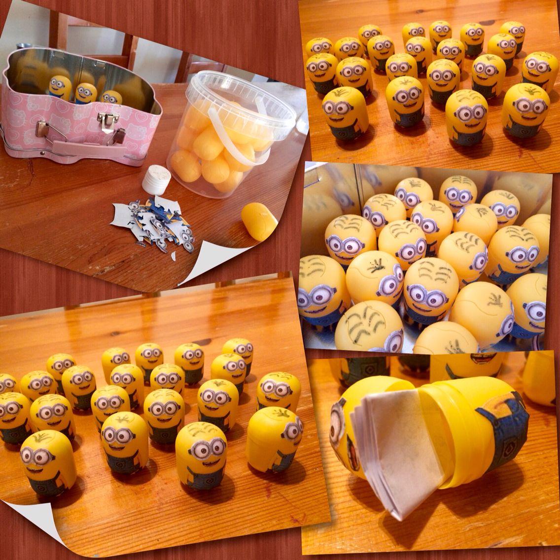 Minion Kinder Egg Birthday Party Invitation I made this invitation ...