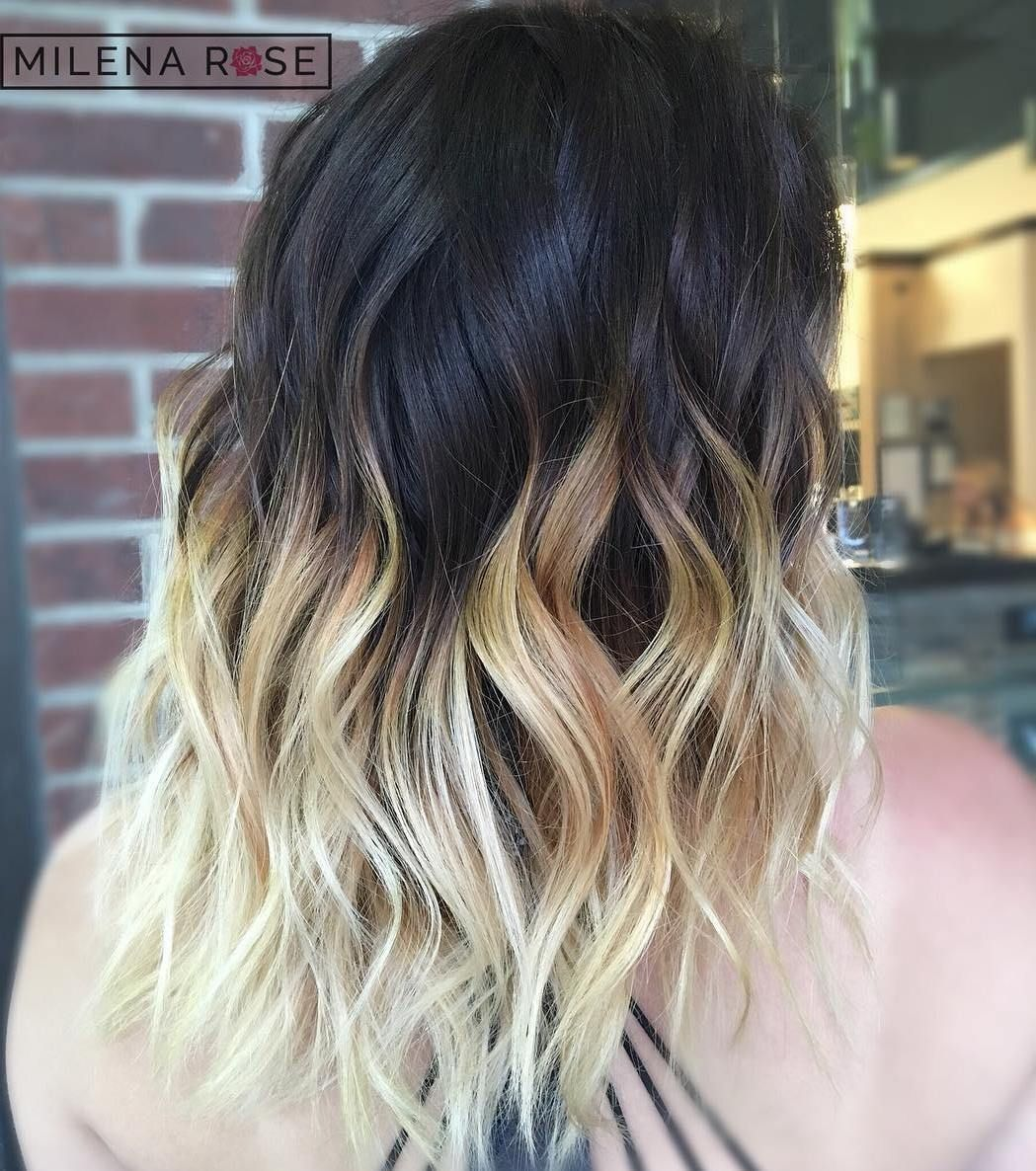 Black And Blonde Hair Ombre Google Search Black Hair Ombre
