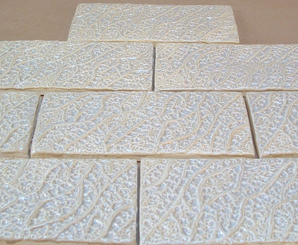 Textured Subway Tile 1 Square Foot Oyster Shell Glaze Roots Design Handmade Tile For Fireplace Kitche Textured Subway Tile Textured Subway Handmade Tiles