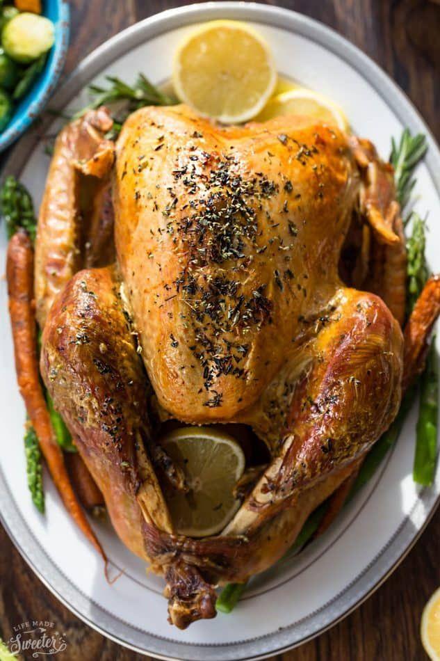 Photo of Herb Garlic & Butter Roasted Turkey Recipe   Yummly