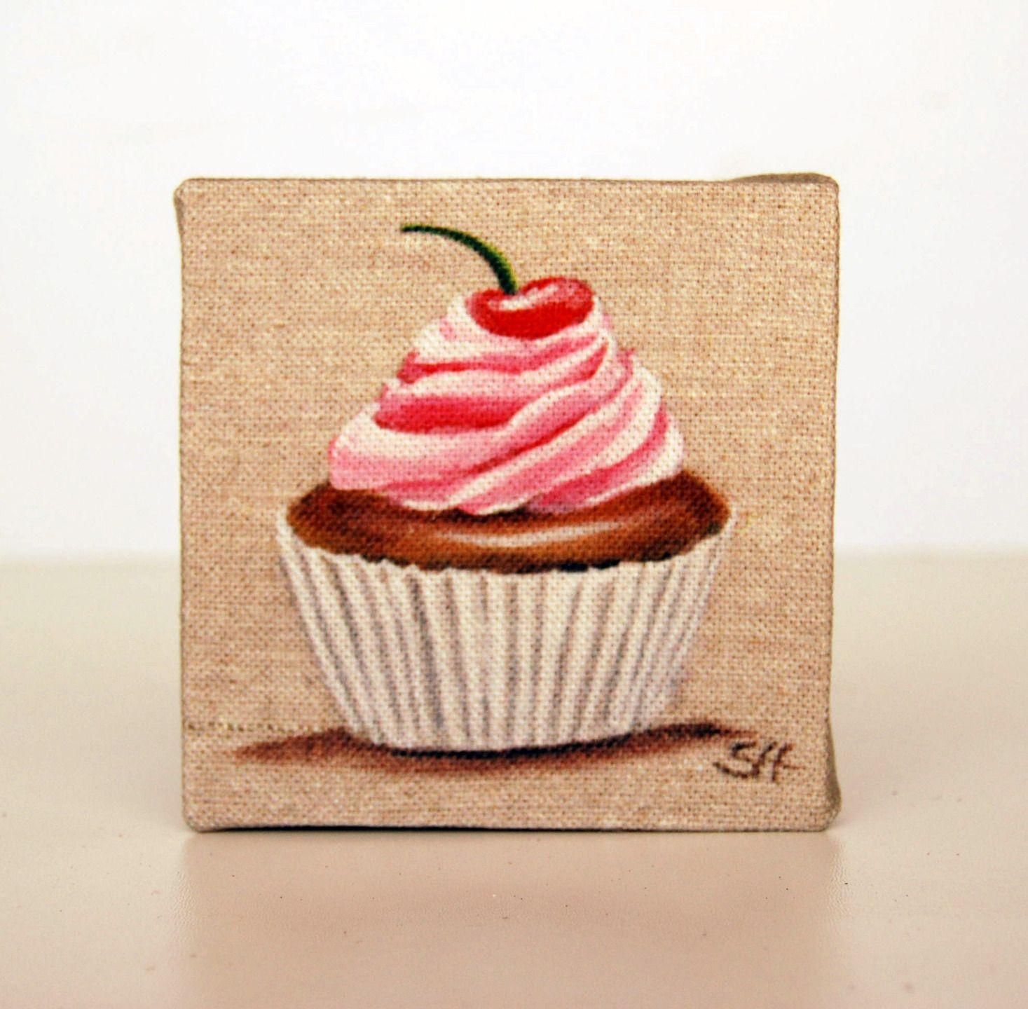 Tableautin Cupcake Rose Et Cerise Sur Le G Teau Pour D Coration D