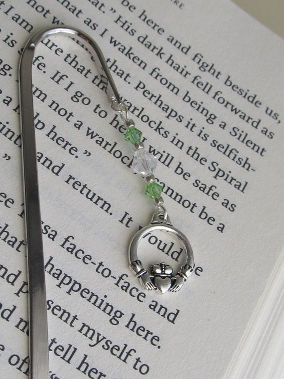 A favorite from my Etsy shop https://www.etsy.com/listing/500940954/claddagh-bookmark