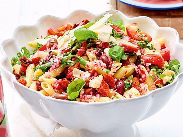 Photo of Pizza Pasta Salad Recipe DELICIOUS
