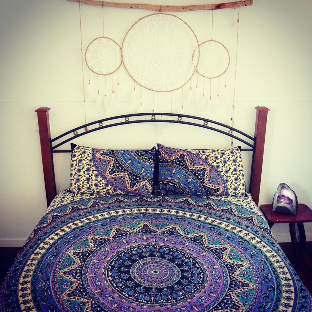 Indian Mandala Bedding Bed Cover Hippie Bed Sheet Cotton Bedding Queen Tapestry