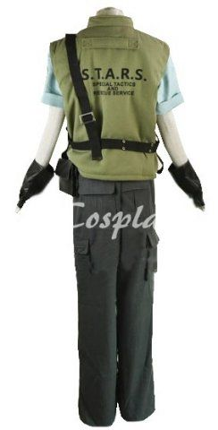 Resident Evil 1 Chris Redfield S.T.A.R.S. Uniform Cosplay Costume  www.animecosplays.com
