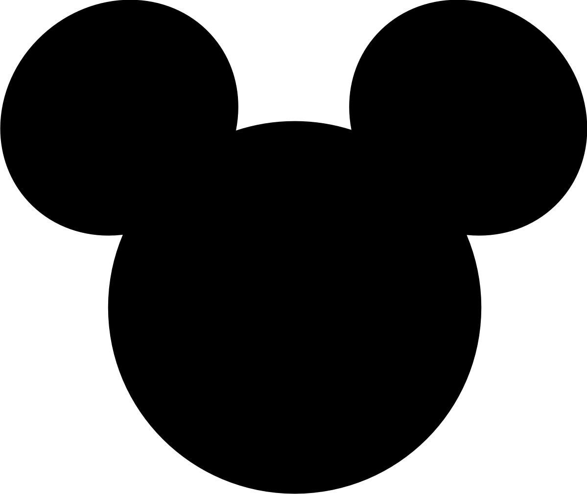 Minnie Mouse Silhouette Printable 30 Within Minnie Mouse Head Template Minnie Mouse Silhouette Mickey Mouse Printables Mickey Mouse Silhouette