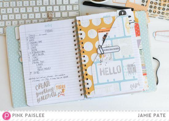 Family Life, Memory Notebook Pink Paislee Memorandum Memory - memorandum