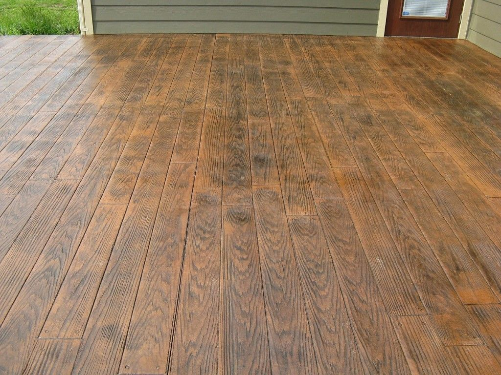 Stamped Faux Flooring : Patio idea more faux wood stamped concrete home design