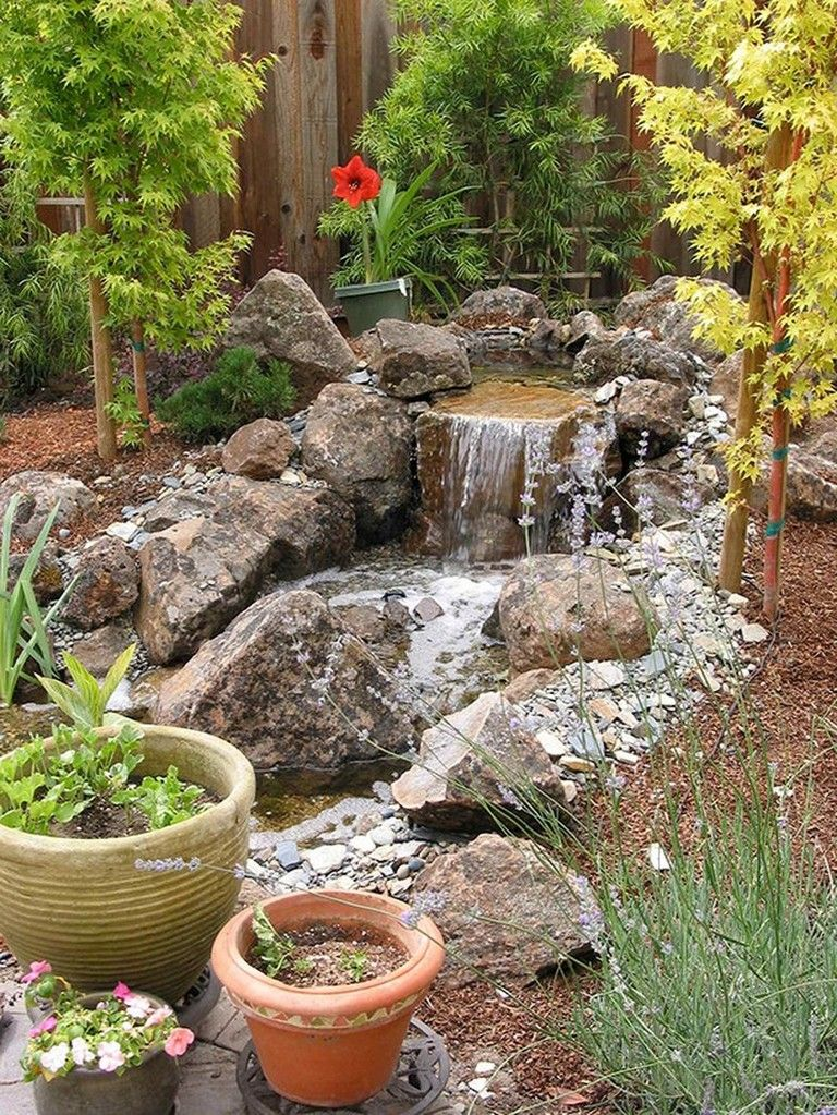 77 Awesome Small Waterfall Pond Landscaping Ideas | Pond ...