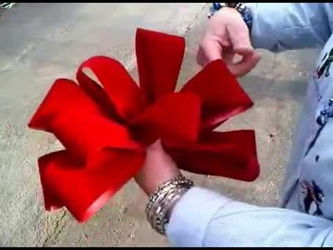 """4 Large 10/"""" Hand Made BRICK RED GOLD Velvet Christmas Bows Outdoor Wreath Ribbon"""