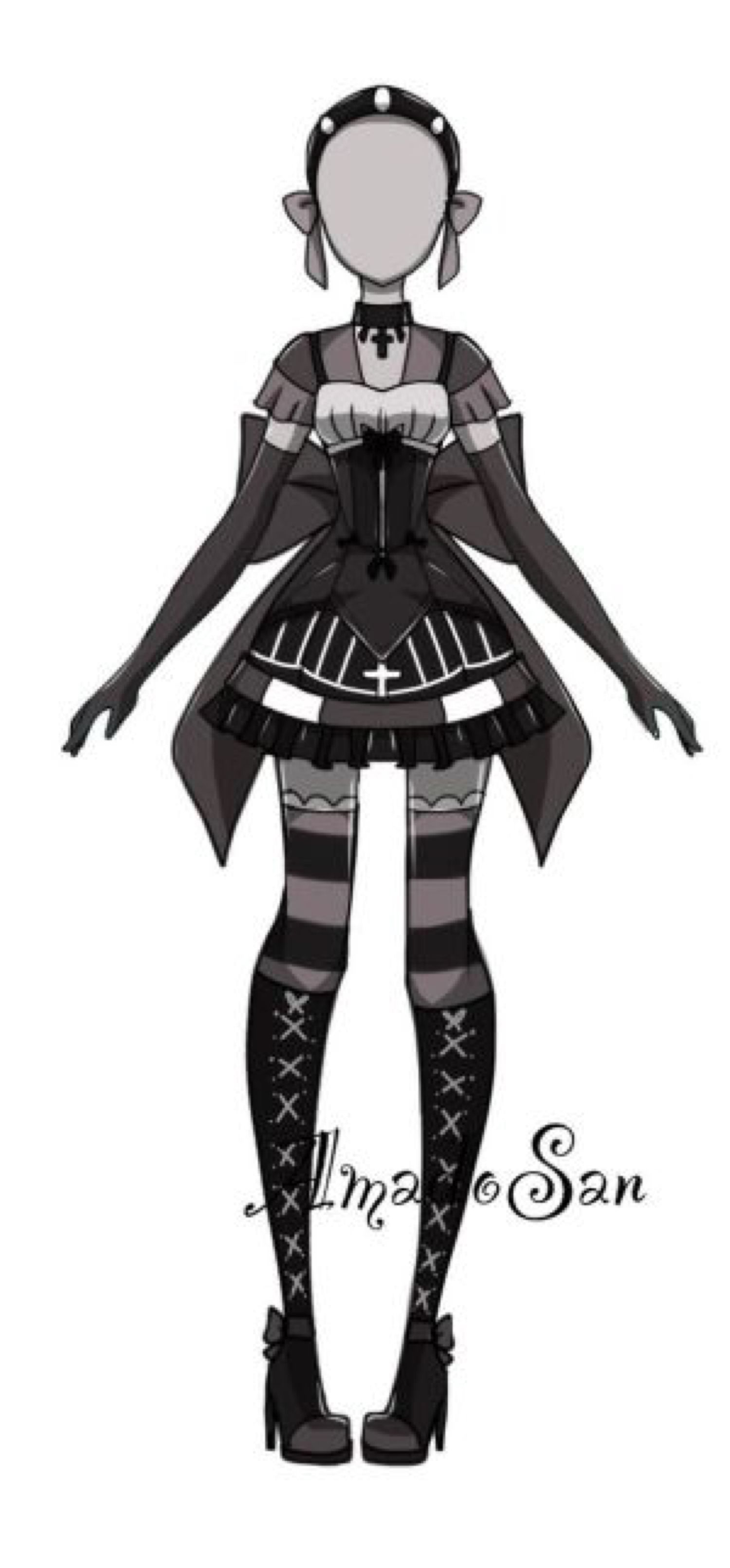 Gothic loli outfit adoptable closed by ASAdoptables on