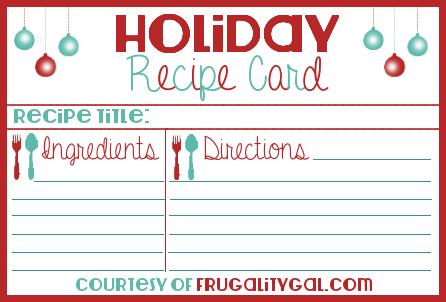 Recipe Card Download Printable Recipe Cards Recipe Cards Free Christmas Printables