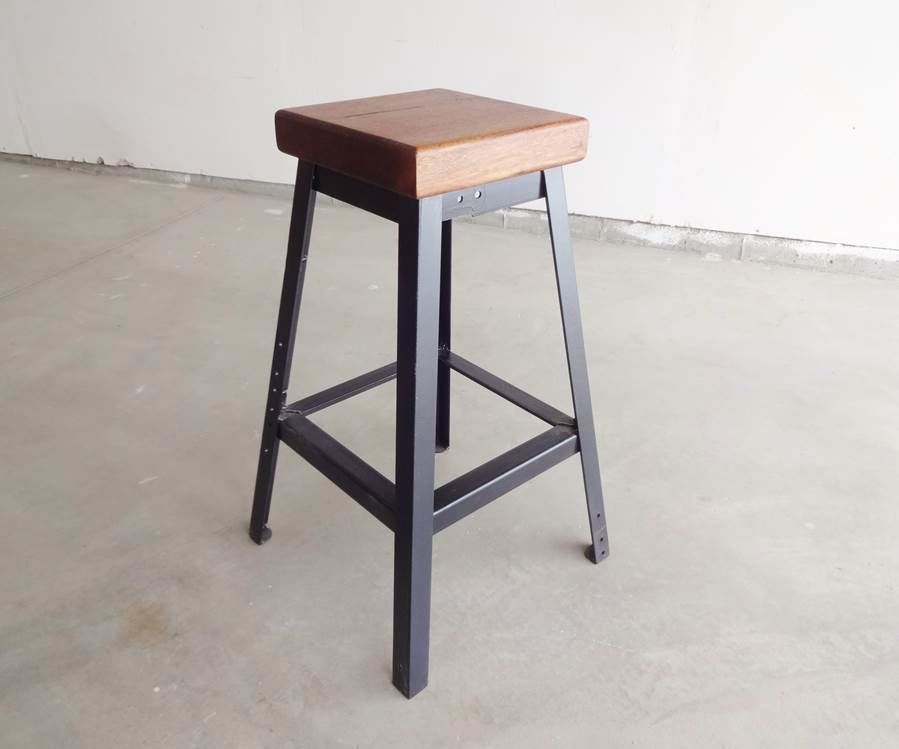 Make A Simple Welded Bar Stool Iron Bar Stools Steel Bar Stools