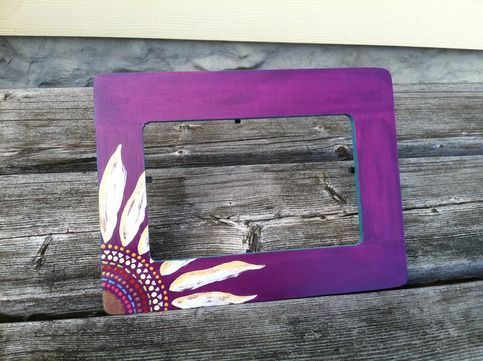 11 50 Hand Painted Sunflower Picture Frame Painted Picture Frames Stick Wall Art Sorority Picture Frames