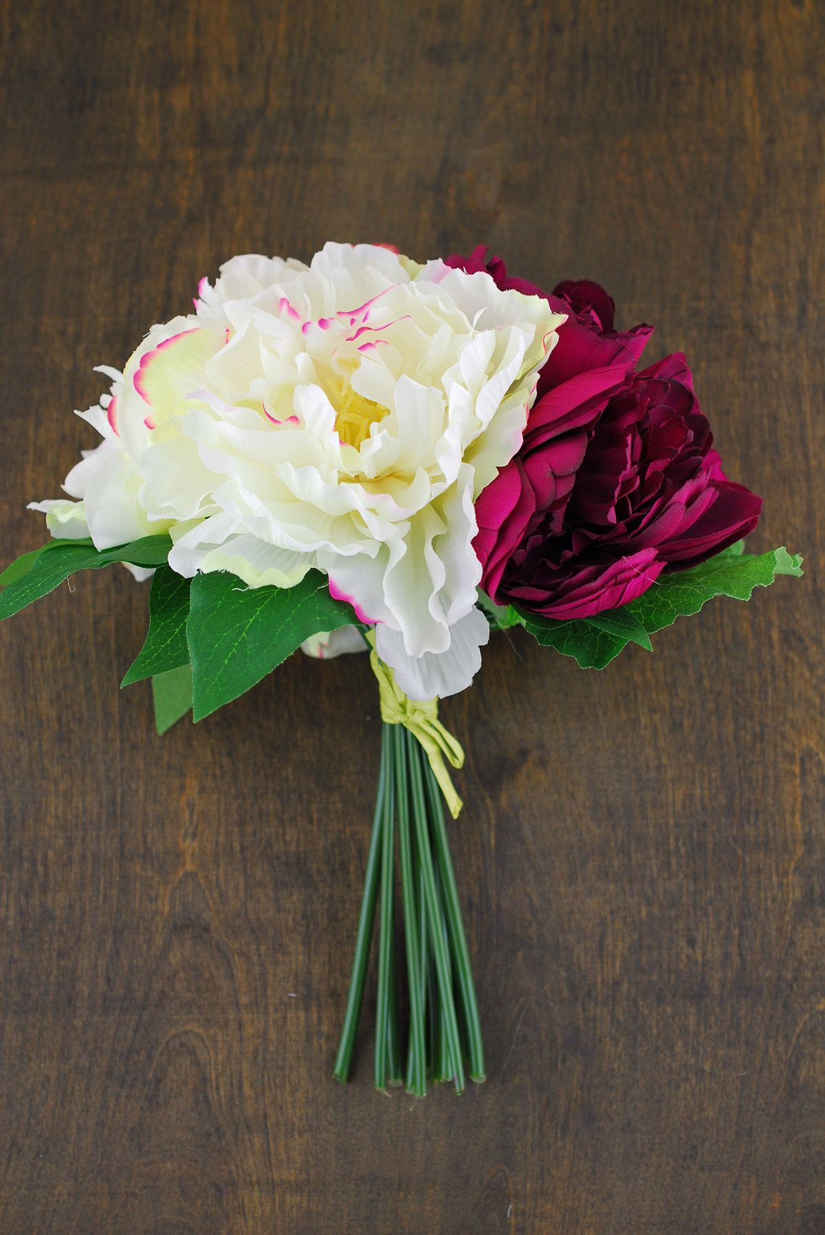 Pink and maroon wedding decor  Peony Bouquet in Burgundy u Cream in  Seal the Deal  Pinterest