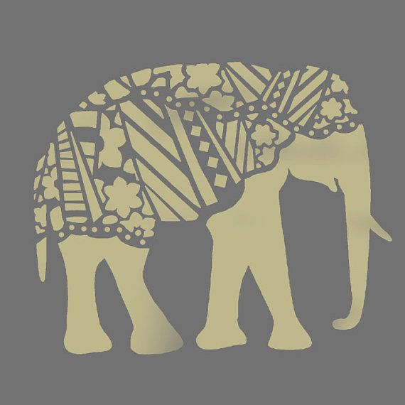 Decorative Elephant Stencil Patterned By Idealstencils Templates Patterns Stencils