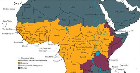 Map Of Africa Showing Ghana.Map Of Africa Showing Yellow Fever Virus Transmission Risk Health
