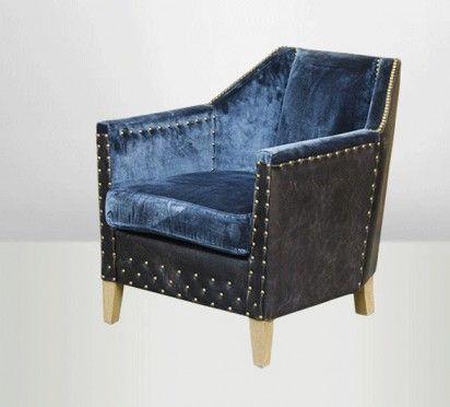 Fauteuil Byron bleu roi Actual Furnishings & Objects