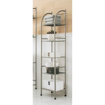 Charming Metal Towel Tower Brushed Nickel   Threshold™ Already Viewed