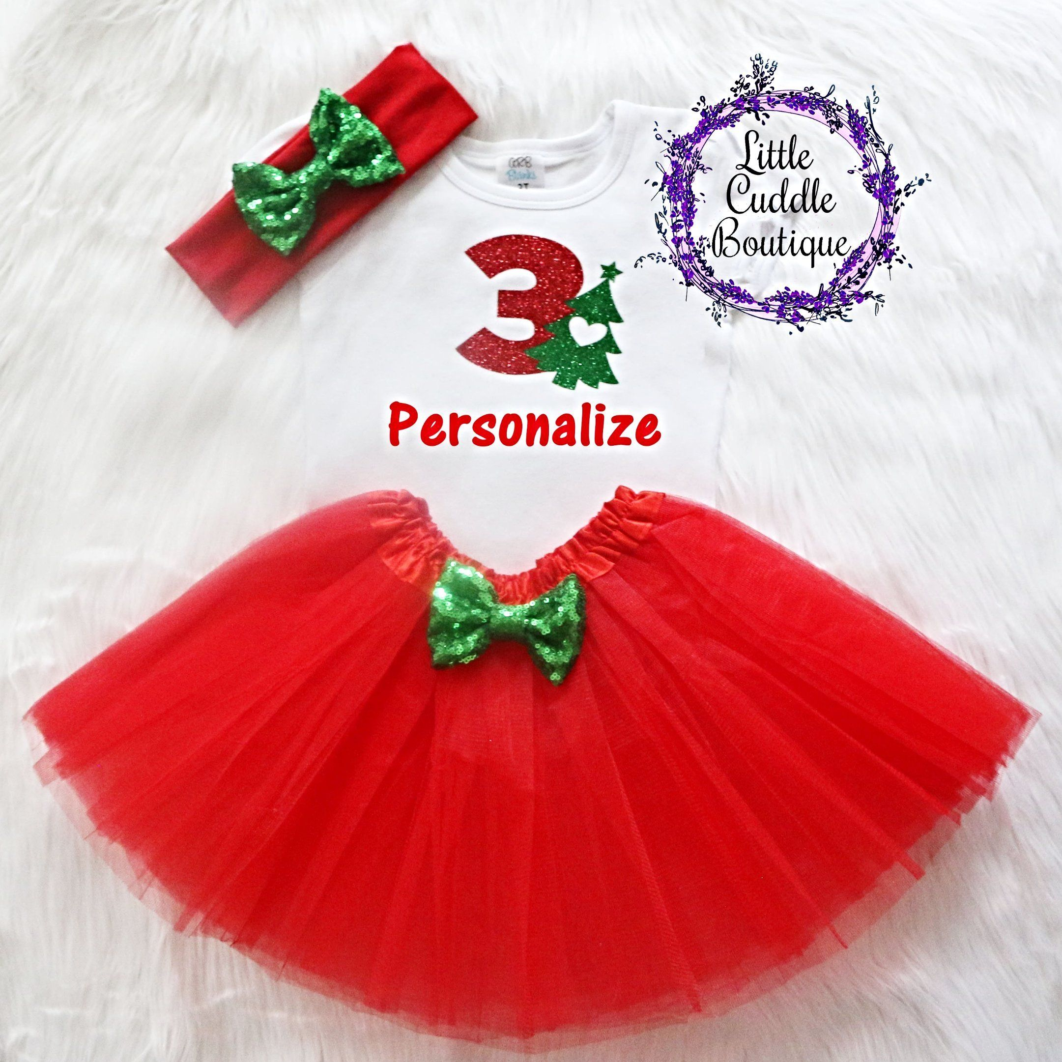 Christmas Birthday Party Ideas For Toddlers.Personalized Toddler Christmas Birthday Tutu Outfit