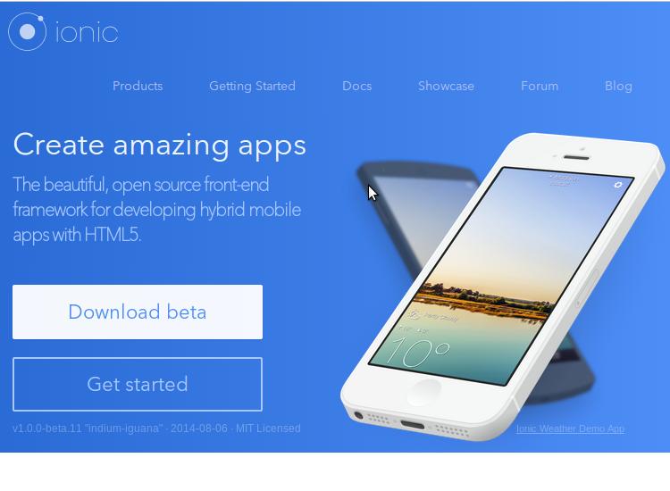 Ionic Framework top hybrid mobile app DEV Mobile app