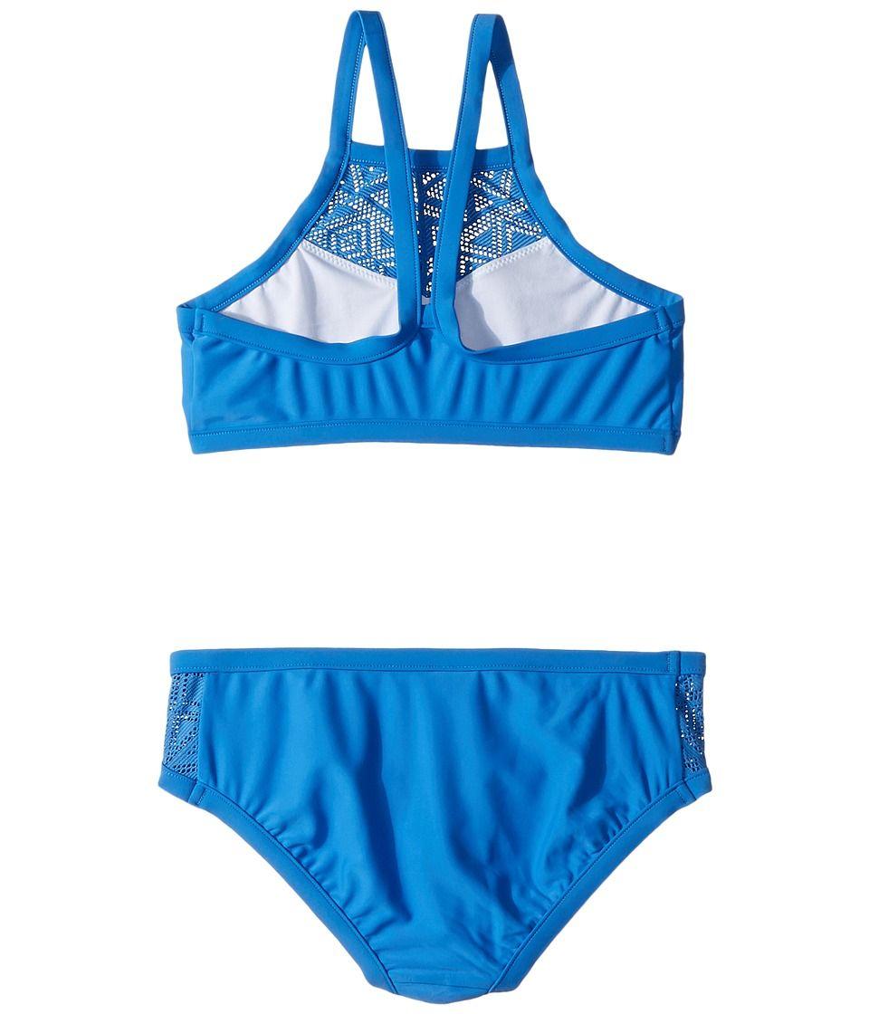 a7ef36dadccbb Seafolly Kids Summer Essentials Apron Tankini Set (Little Kids/Big Kids) Girl's  Swimwear Sets Hawaii Blue