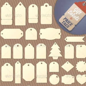 Tag and Price Label Vector Shapes
