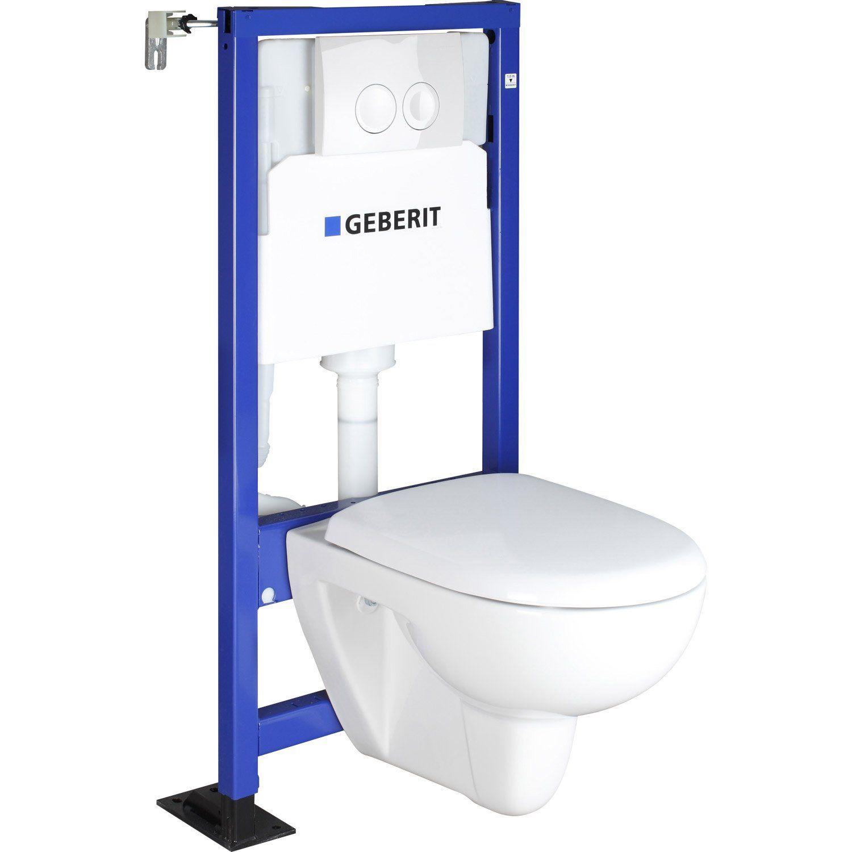 Cuvette De Wc Suspendu Geberit pack wc suspendu bâti mur, geberit symbiose | pack wc