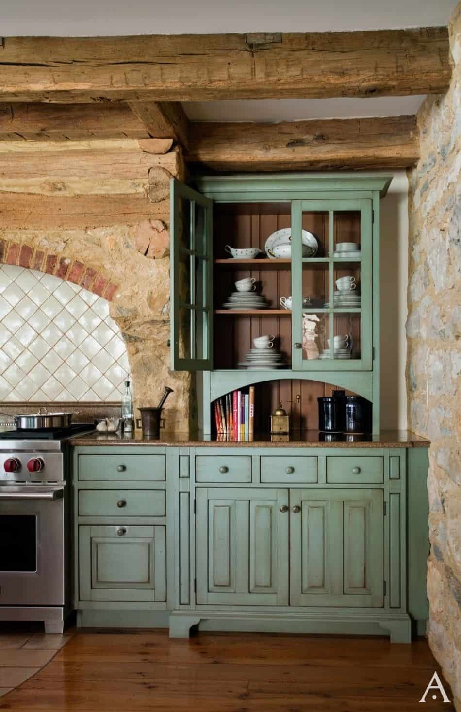 Country Kitchen Cabinets With Exposed Stone Walls By Periodarchitectureltd Com Rustic Kitchen Cabinets Rustic Kitchen Farmhouse Kitchen Design