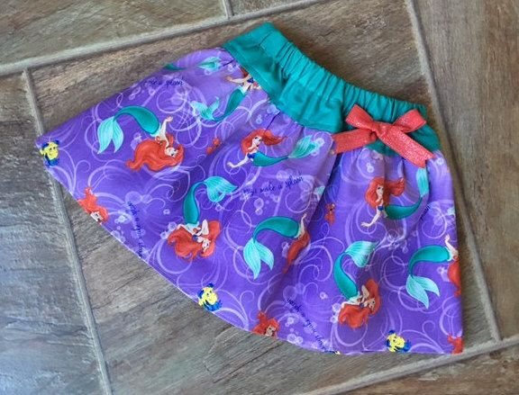 Little Mermaid Skirt, Little Mermaid Birthday, Little Mermaid Party, Disney Princess Skirt, Ariel Skirt, Sizes 3 6 9 12 18 24 2T 3T 4T 5T 6 by LittleGiggleShop on Etsy https://www.etsy.com/listing/477136037/little-mermaid-skirt-little-mermaid